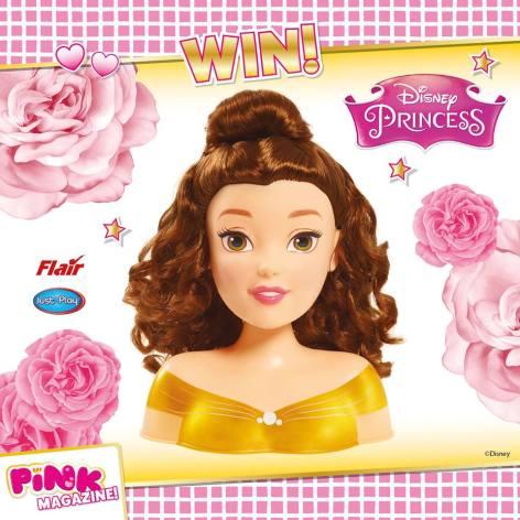 disney princess belle styling head