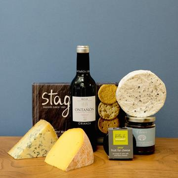 luscious cheese hamper