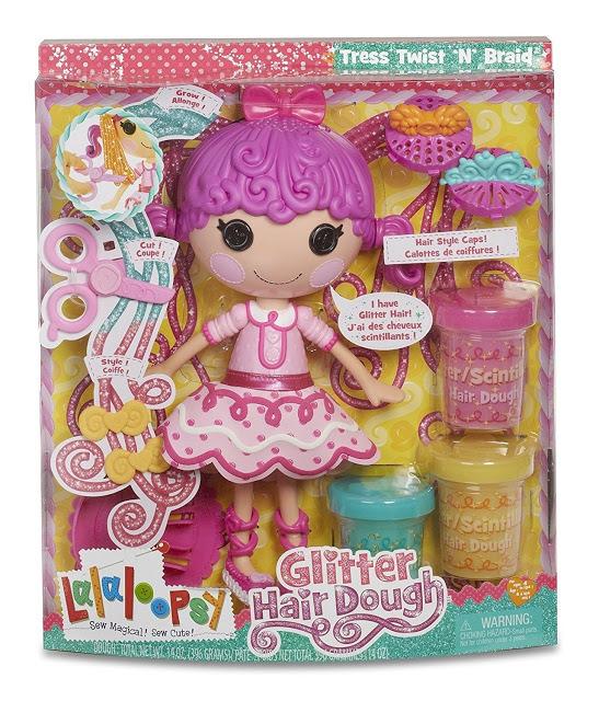 lalaloopsy glitter hair dough doll