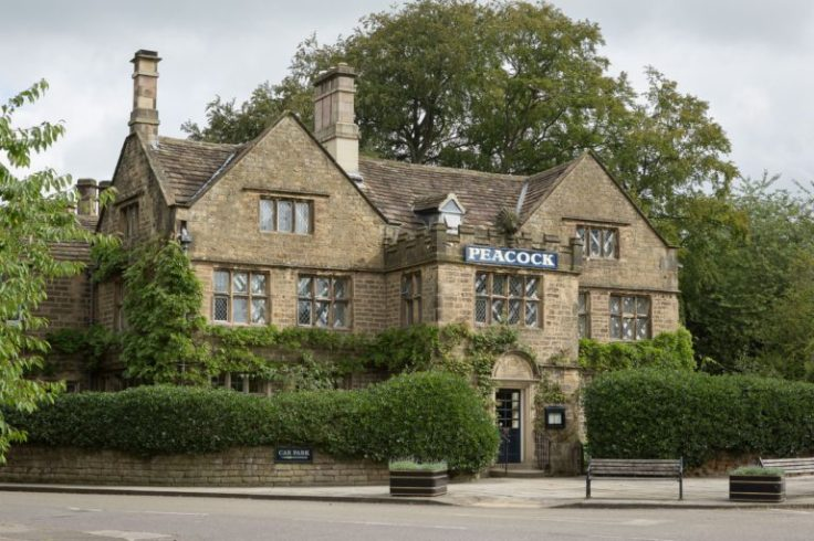 the peacock at the rowsley