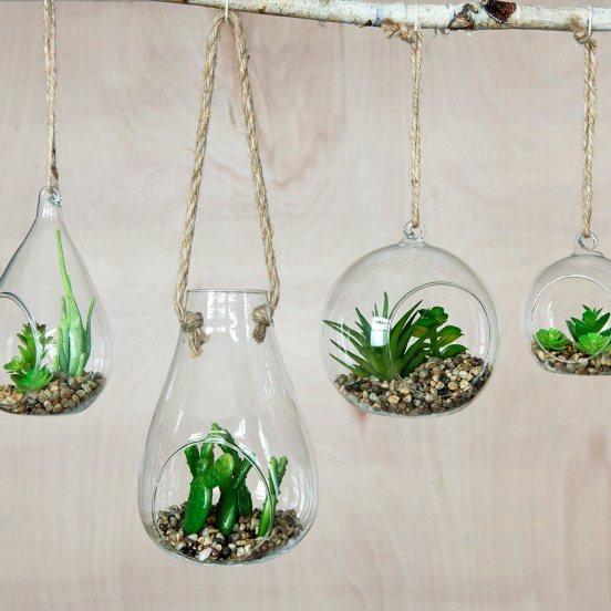 faux hanging cuctus