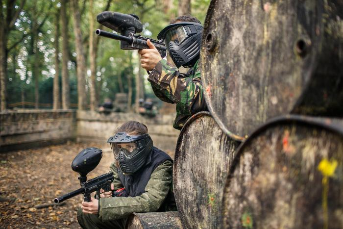 paintballing hen party