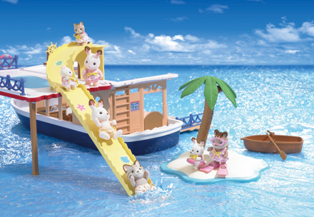sylvanian families seaside cruise houseboat