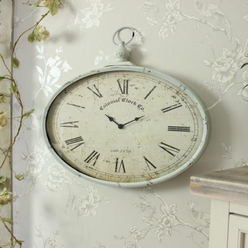 vintage oval clock