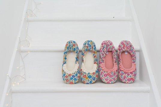 liberty art fabric slippers