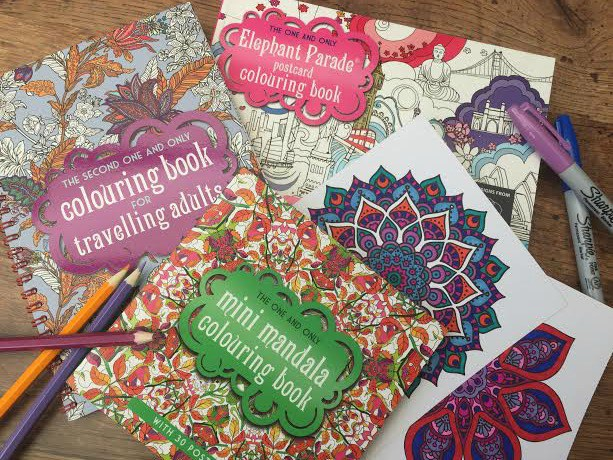 set of adult colouring books
