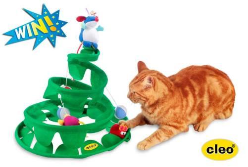 springy tree cat toy