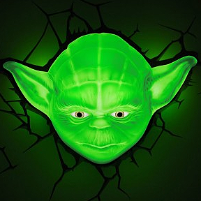 yoda wall light