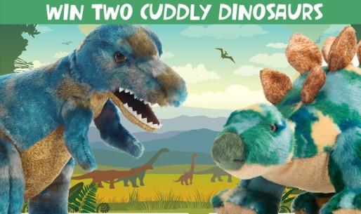 2 cuddly dinosaur toys