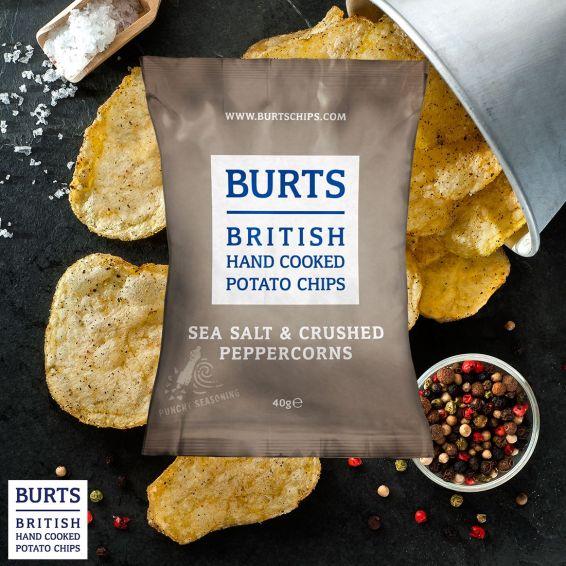 burts sea salt & crushed peppercorn