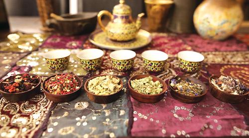chakra tea tasting