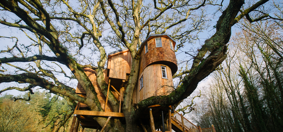family treehouse stay devon