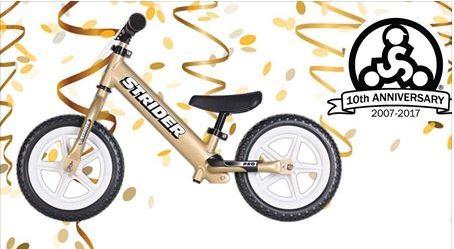 gold limited edition pro balance bike