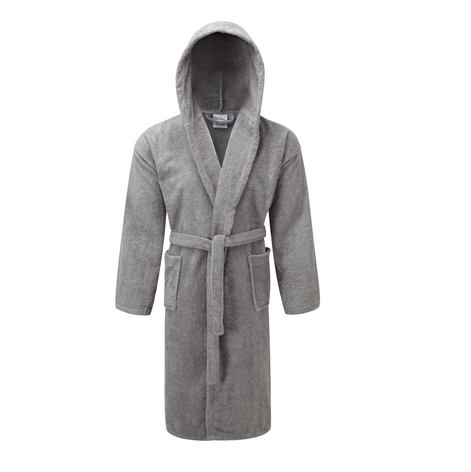 hooded towelling dressing gown