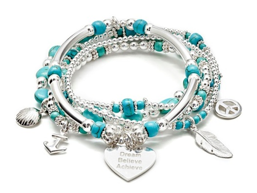 annie haak silver charm bracelet