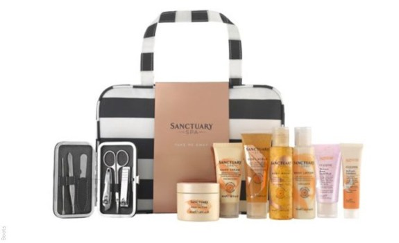 beauty bag & goodies from sanctuary spa