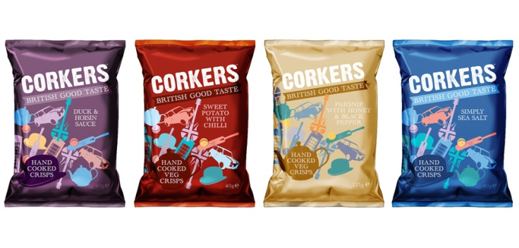 box of corkers crisps