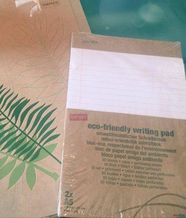 bundle of eco friendly stationery