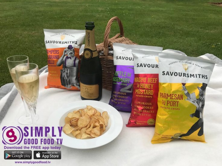 champagne & crisps from savoursmith