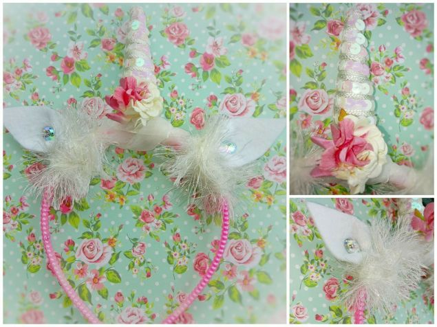 handmade unicorn headband