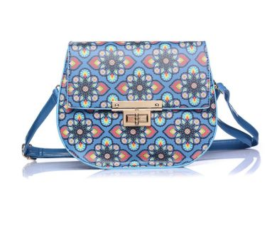lylia rose blue mosaic handbag