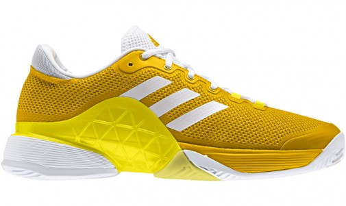 pair of adidas barricade shoes