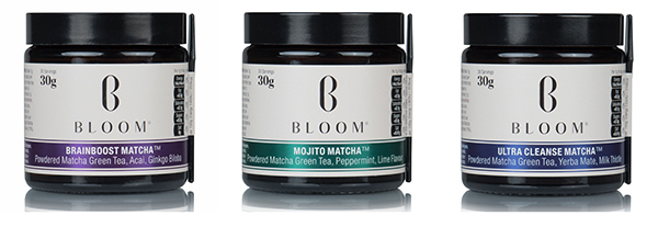set of bloom matcha teas