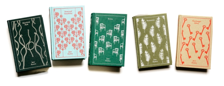 set of jane austen clothbound