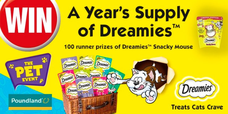 year's supply of dreamies