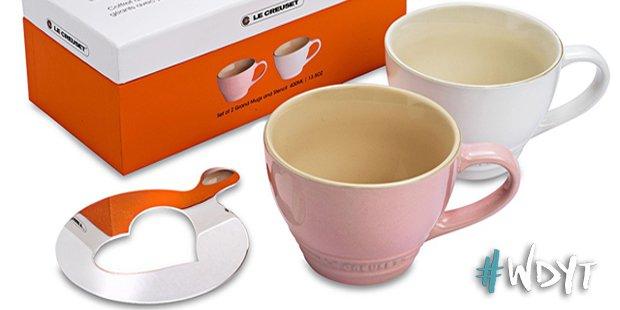 2 le creuset coffee mugs
