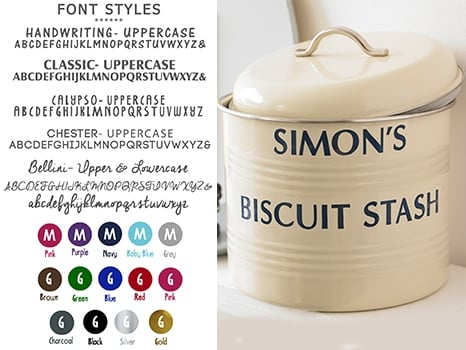 personalised double rimmed biscuit bowl